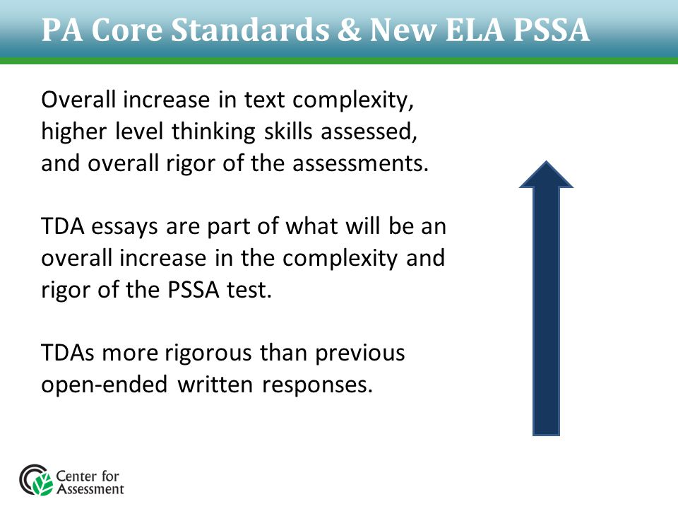 PA Core Standards & New ELA PSSA