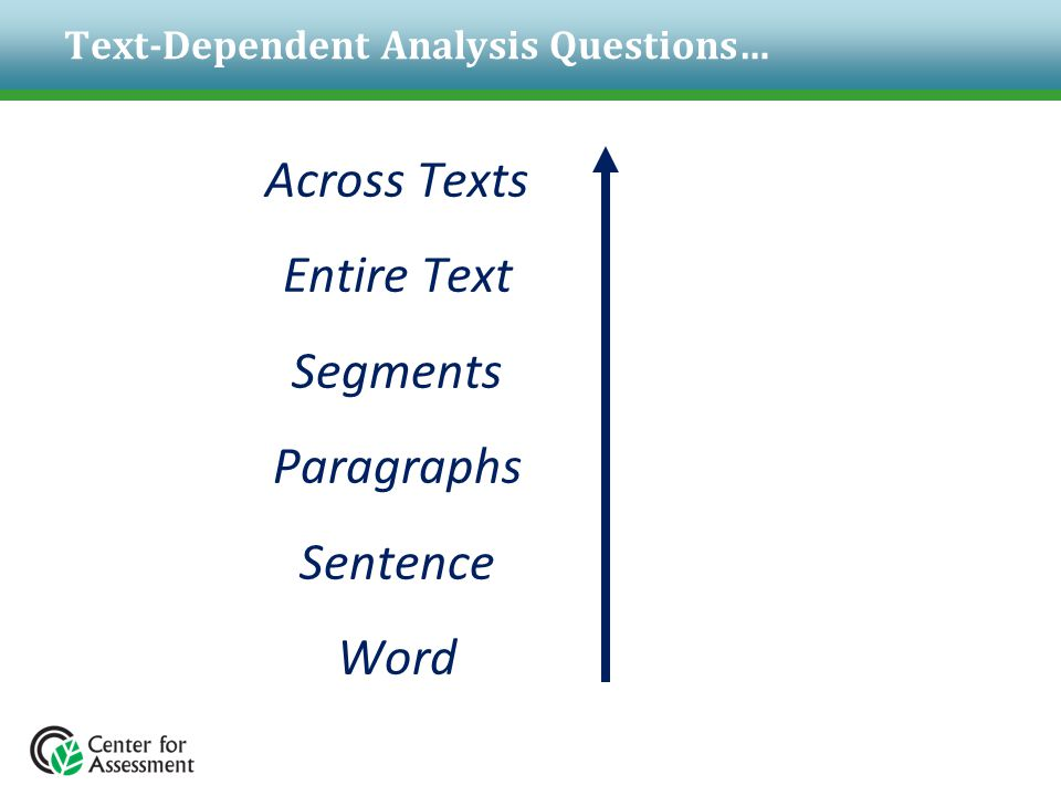 Text-Dependent Analysis Questions…