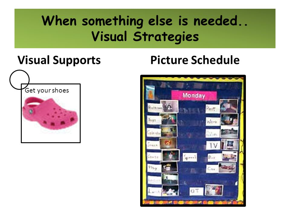 When something else is needed.. Visual Strategies