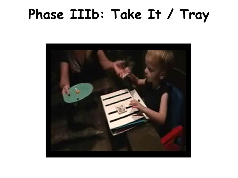 Phase IIIb: Take It / Tray