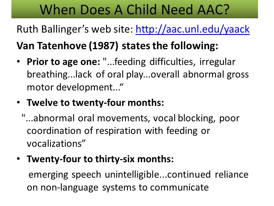 When Does A Child Need AAC