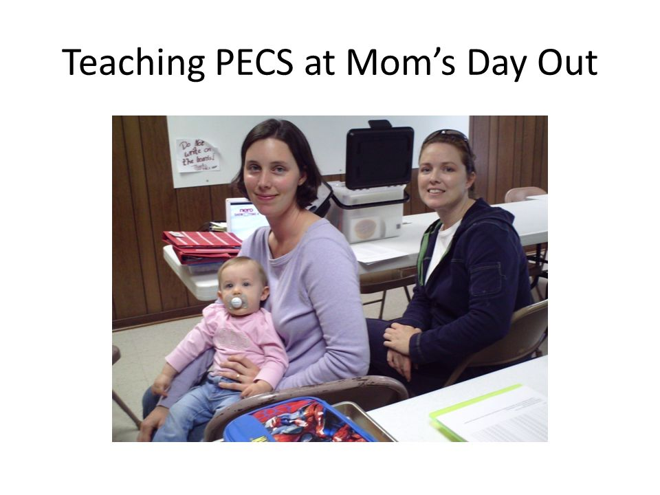 Teaching PECS at Mom's Day Out