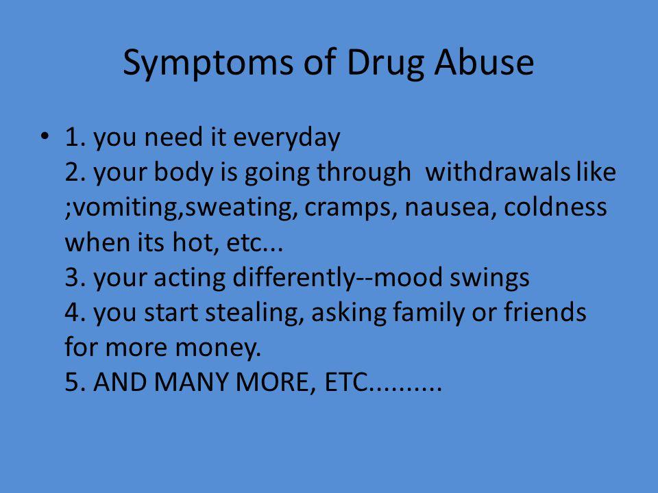 Symptoms of Drug Abuse