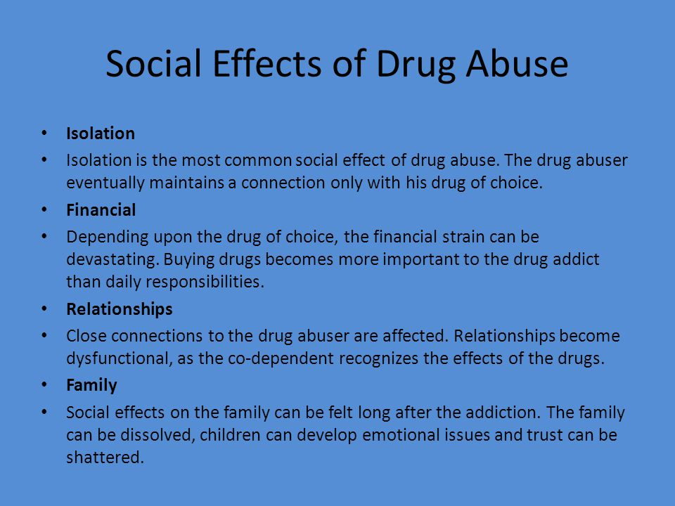 drugs essays causes and effects