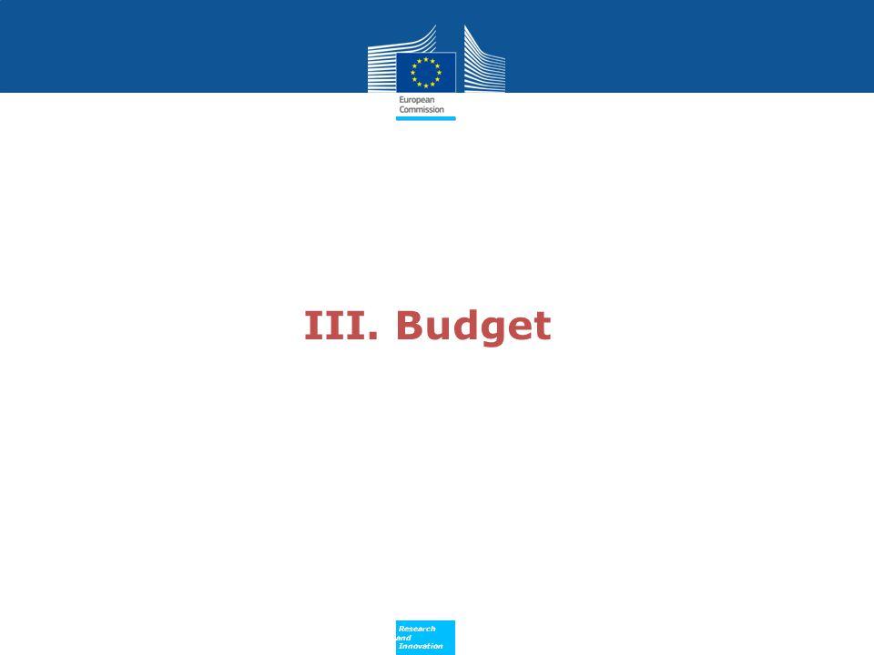 III. Budget 13