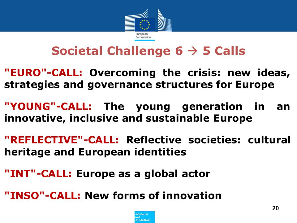 Societal Challenge 6  5 Calls