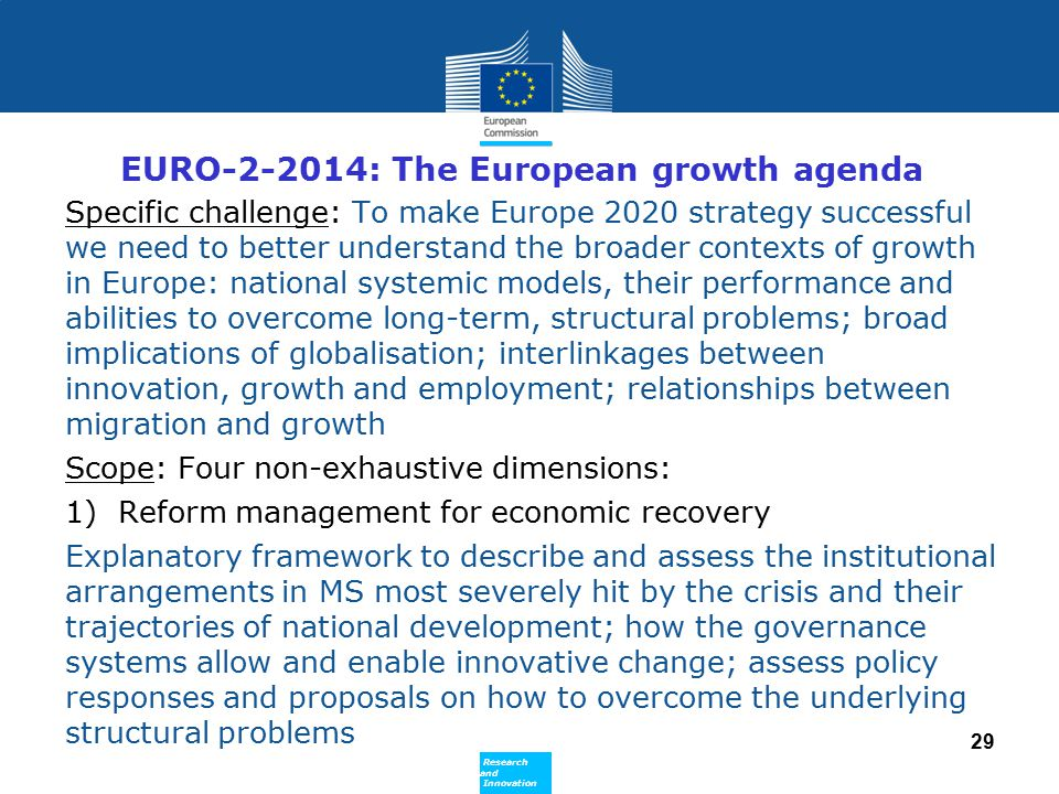 EURO-2-2014: The European growth agenda