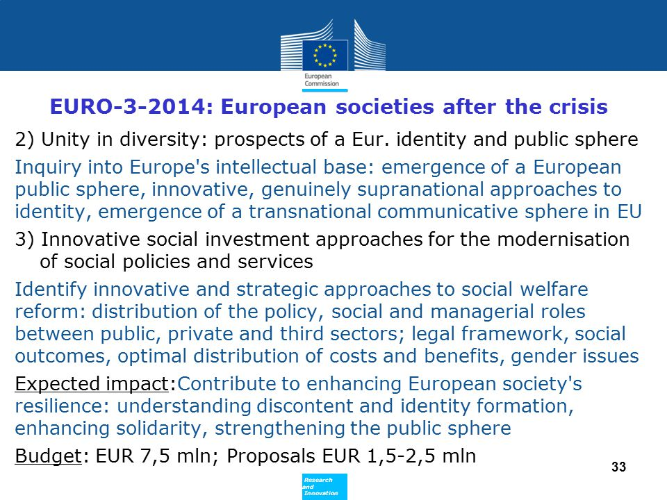 EURO-3-2014: European societies after the crisis