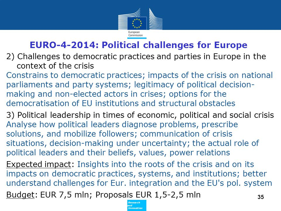 EURO-4-2014: Political challenges for Europe