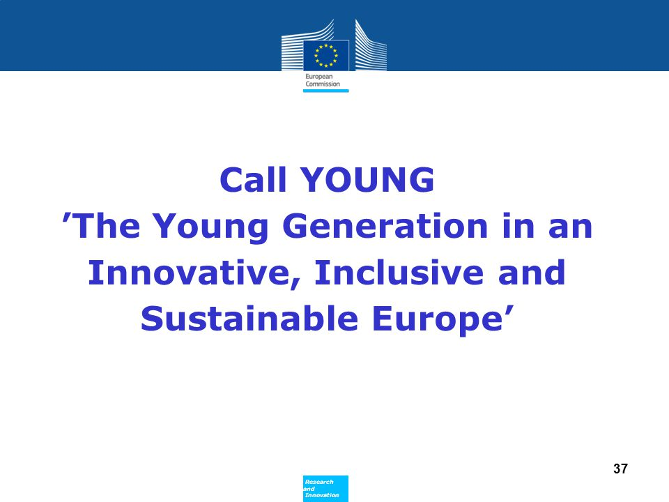 Call YOUNG 'The Young Generation in an Innovative, Inclusive and Sustainable Europe'