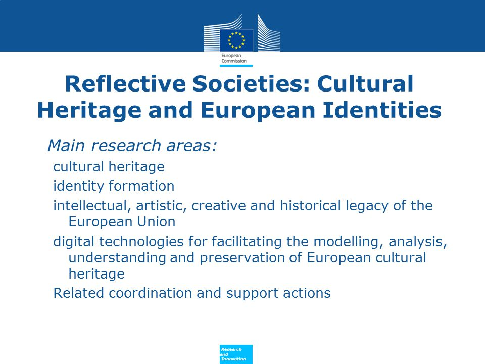 Reflective Societies: Cultural Heritage and European Identities