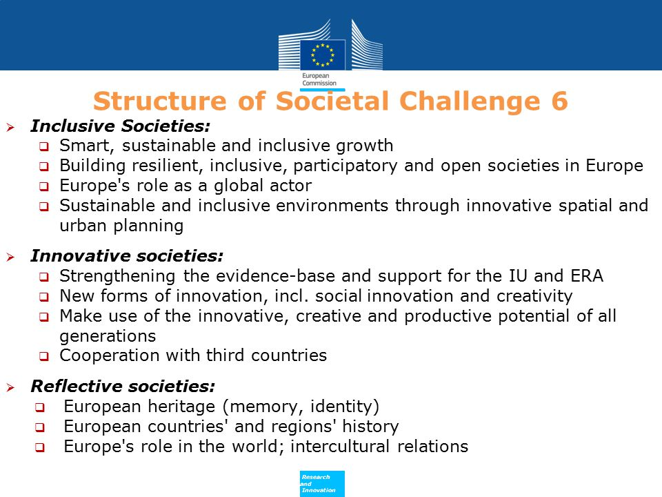 Structure of Societal Challenge 6