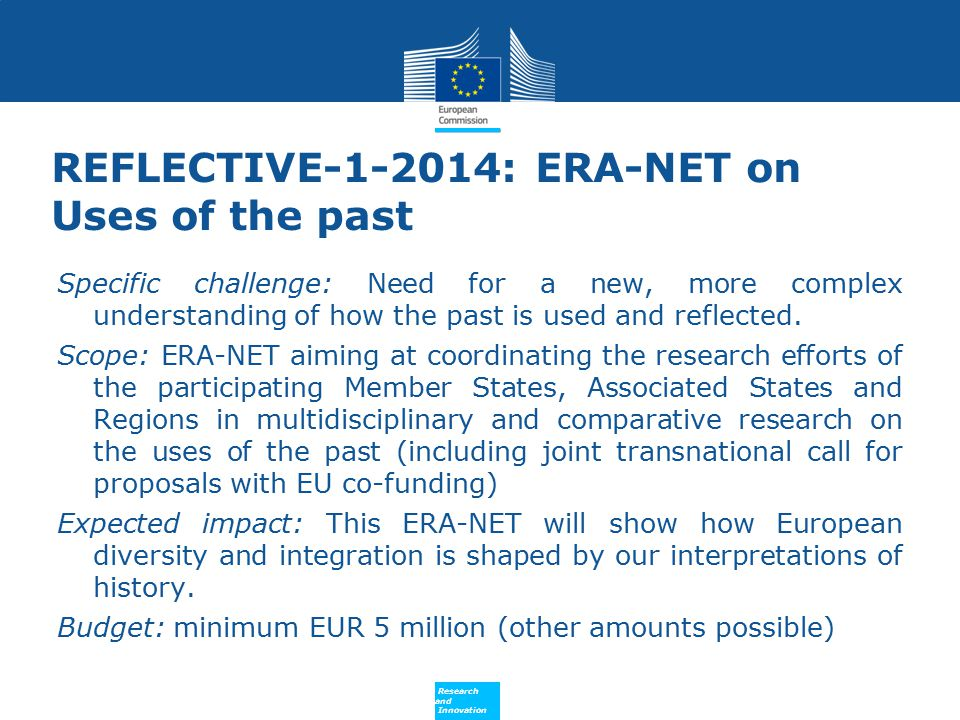 REFLECTIVE-1-2014: ERA-NET on Uses of the past