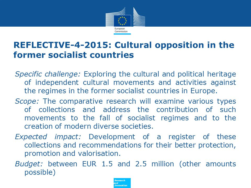 REFLECTIVE-4-2015: Cultural opposition in the former socialist countries