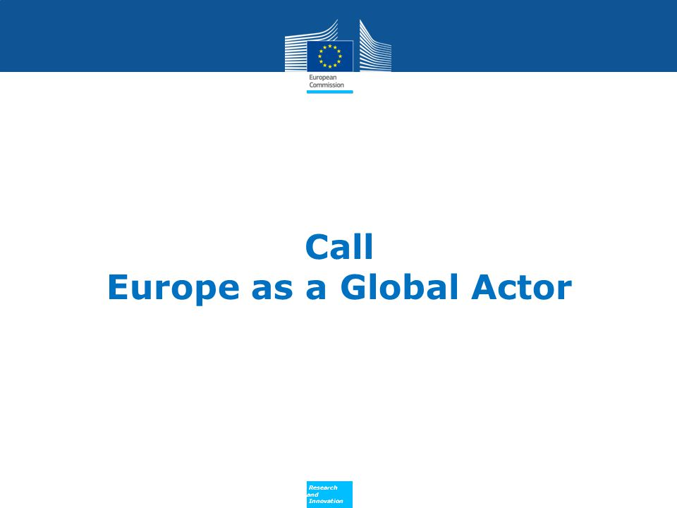 Call Europe as a Global Actor