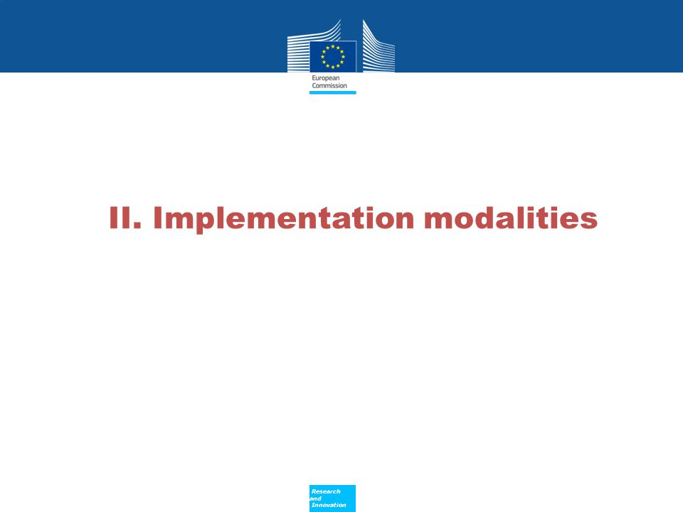II. Implementation modalities