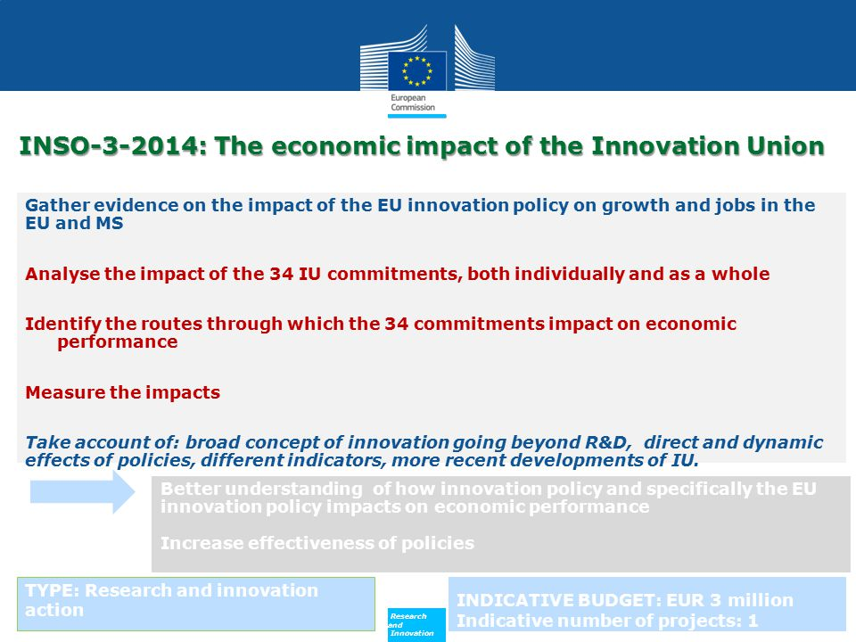 INSO-3-2014: The economic impact of the Innovation Union