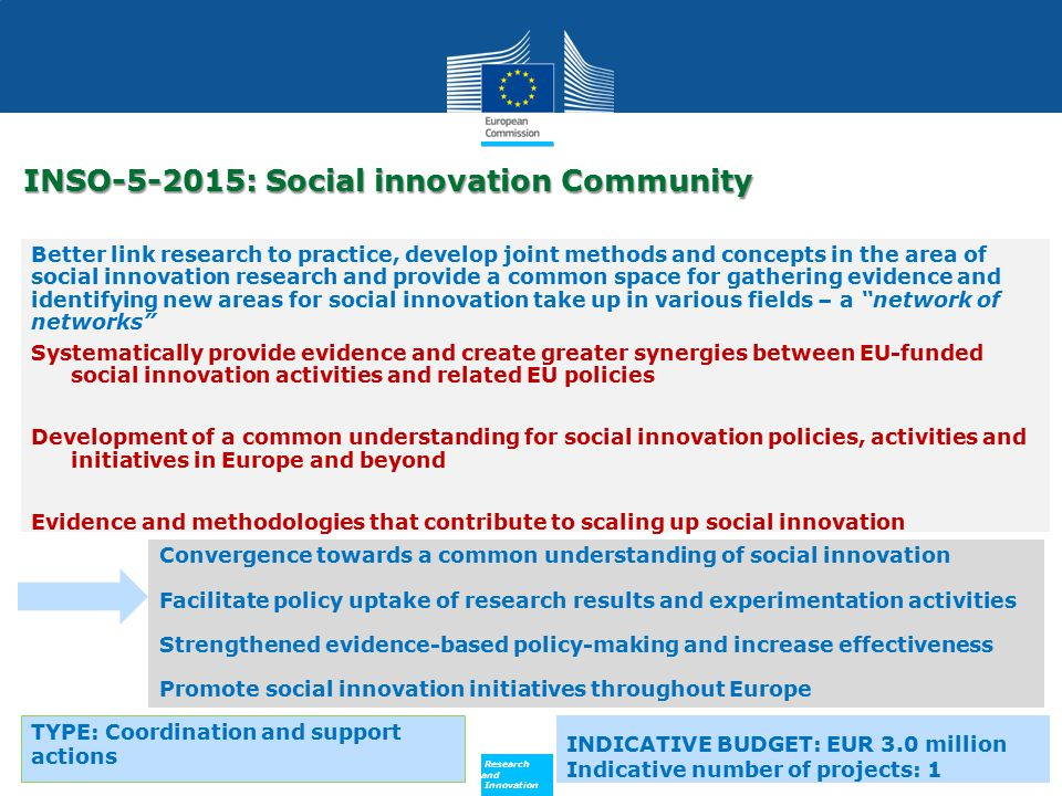 INSO-5-2015: Social innovation Community