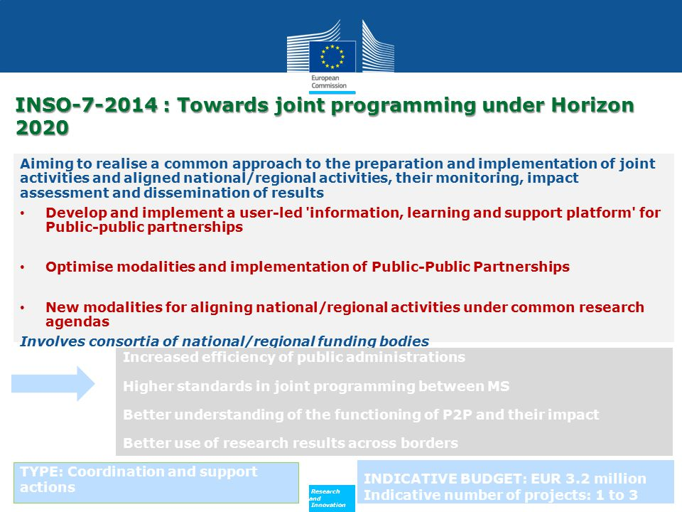 INSO-7-2014 : Towards joint programming under Horizon 2020