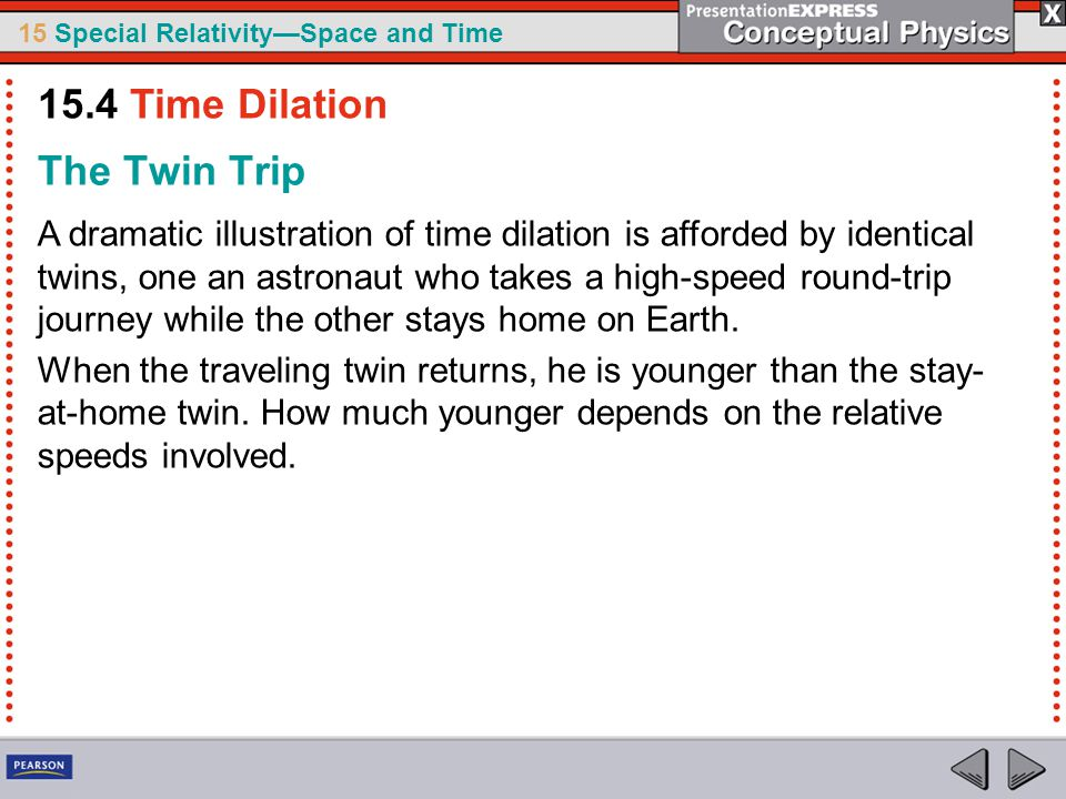 15.4 Time Dilation The Twin Trip