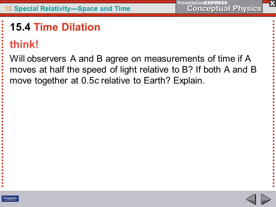 15.4 Time Dilation think!