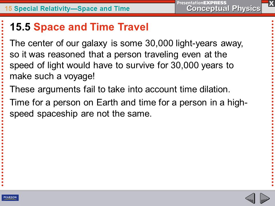 15.5 Space and Time Travel