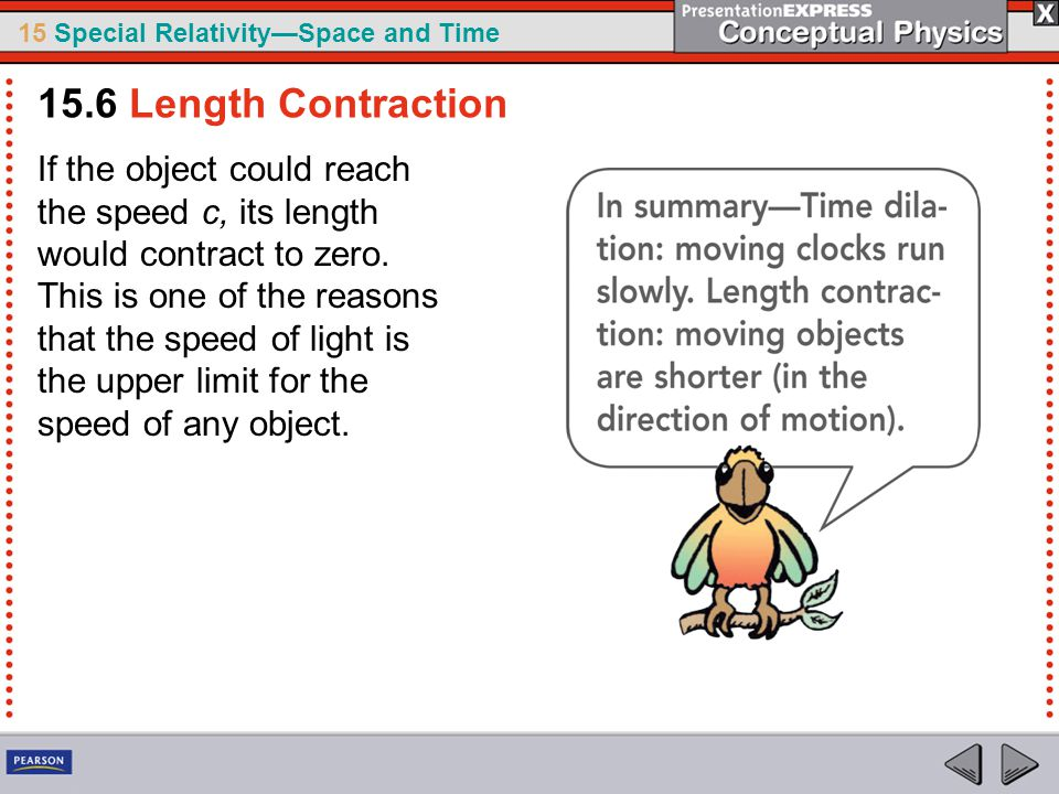 15.6 Length Contraction