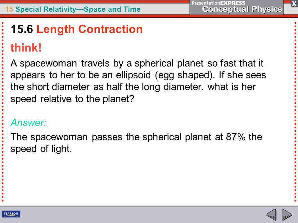 15.6 Length Contraction think!