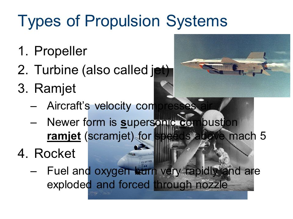 Types of Propulsion Systems