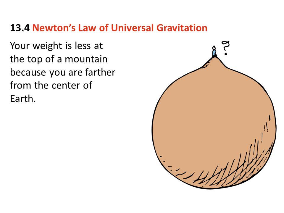13.4 Newton's Law of Universal Gravitation