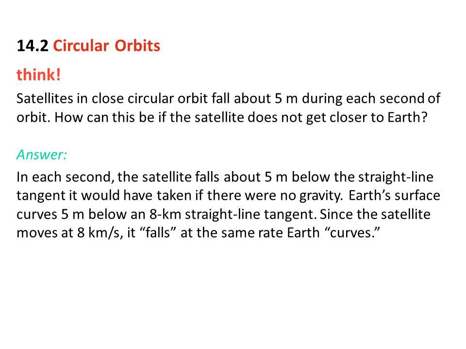 14.2 Circular Orbits think!