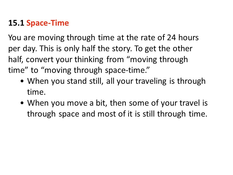 15.1 Space-Time