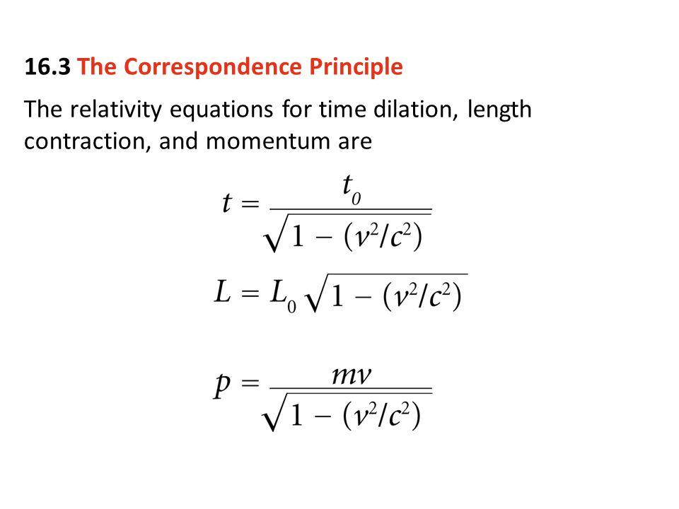 16.3 The Correspondence Principle