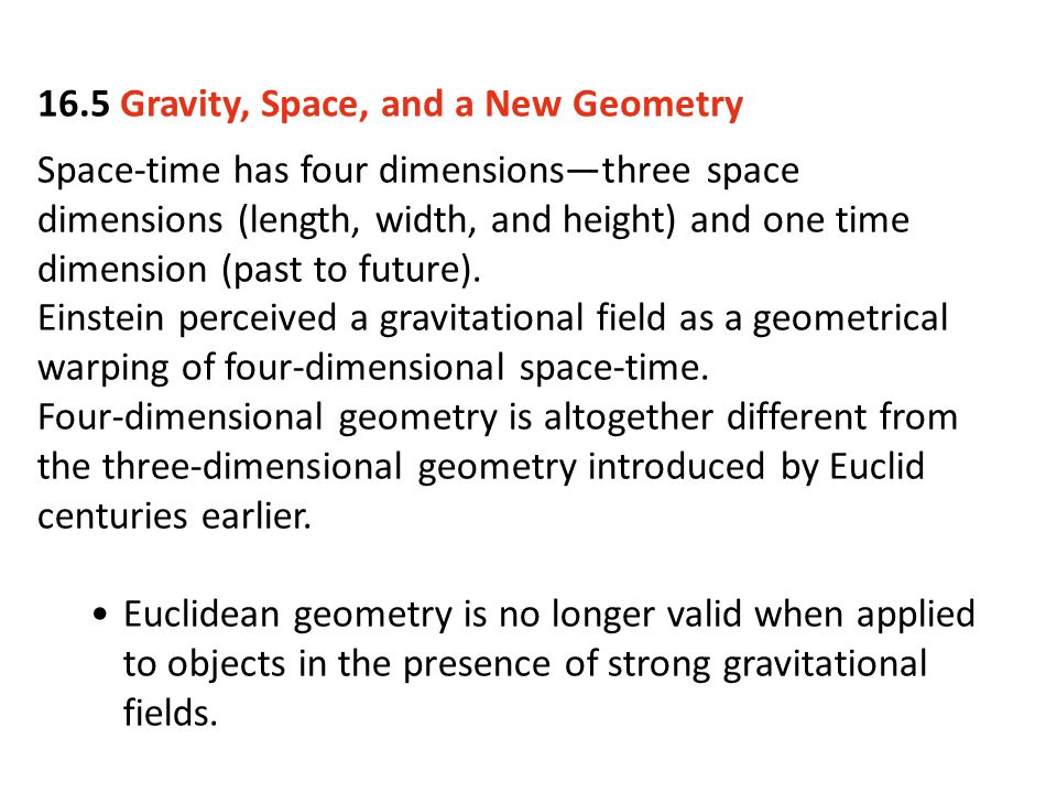 16.5 Gravity, Space, and a New Geometry