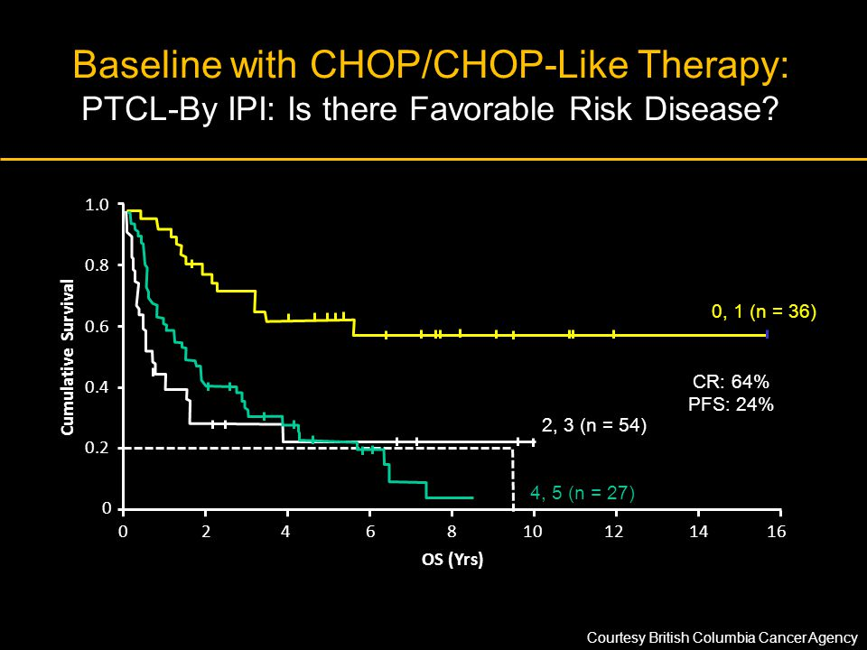 Baseline with CHOP/CHOP-Like Therapy: PTCL-By IPI: Is there Favorable Risk Disease