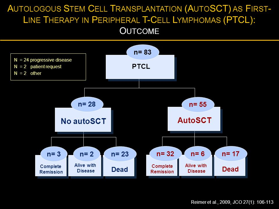 Autologous Stem Cell Transplantation (AutoSCT) as First-Line Therapy in Peripheral T-Cell Lymphomas (PTCL): Outcome