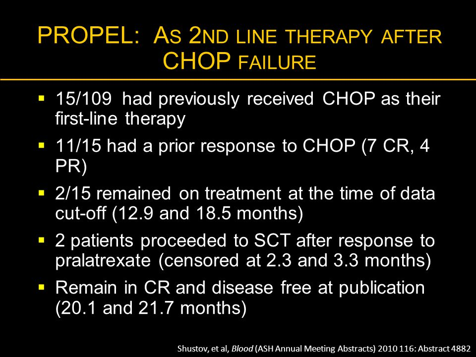 PROPEL: As 2nd line therapy after CHOP failure