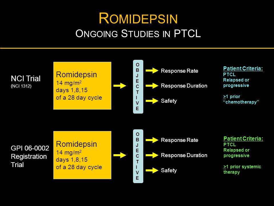 Romidepsin Ongoing Studies in PTCL