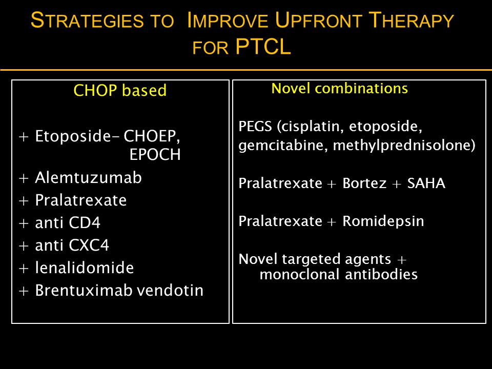 Strategies to Improve Upfront Therapy for PTCL
