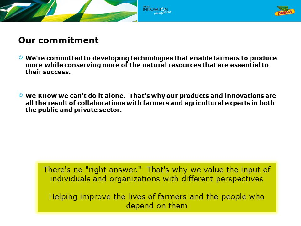 Helping improve the lives of farmers and the people who depend on them