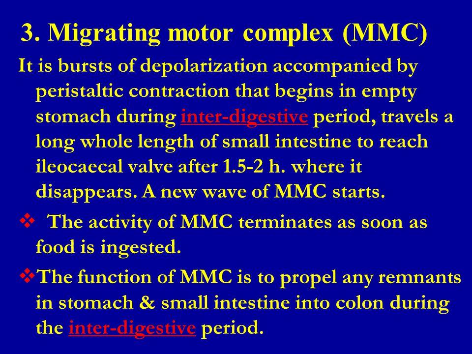 3. Migrating motor complex (MMC)