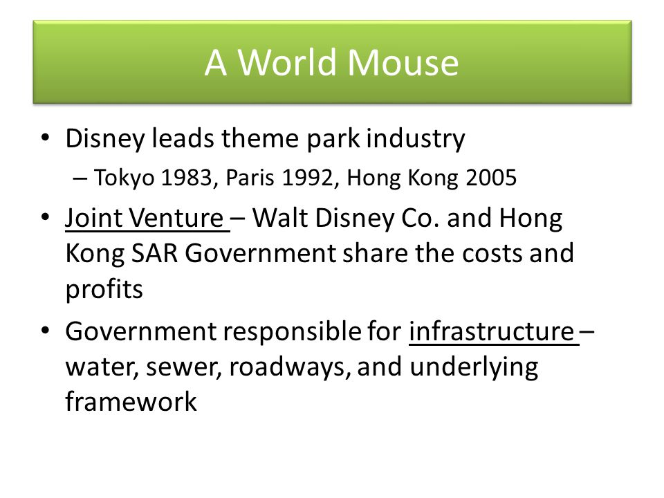 A World Mouse Disney leads theme park industry
