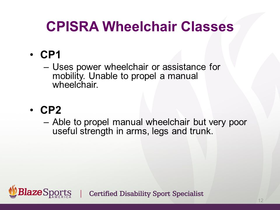 CPISRA Wheelchair Classes