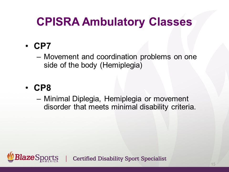 CPISRA Ambulatory Classes