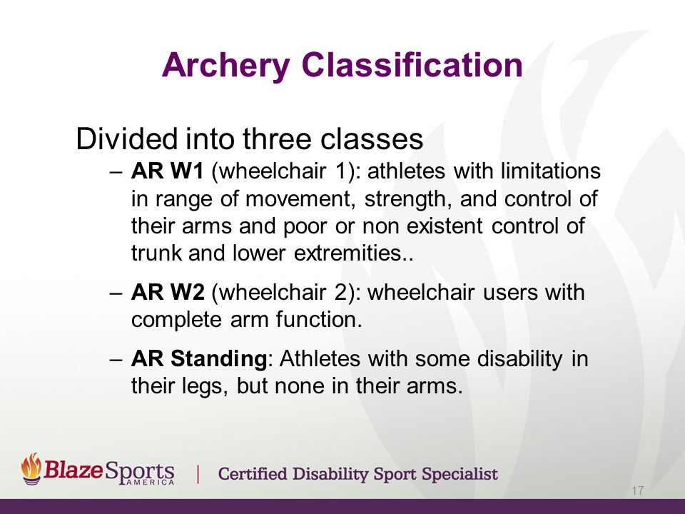 Archery Classification