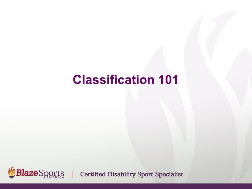 Classification 101