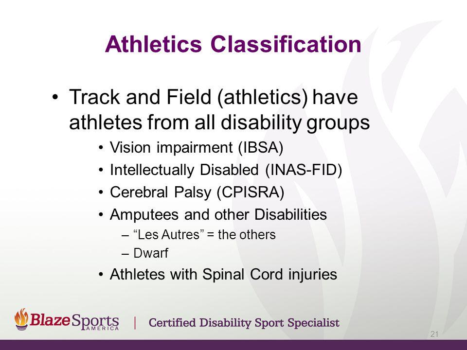 Athletics Classification