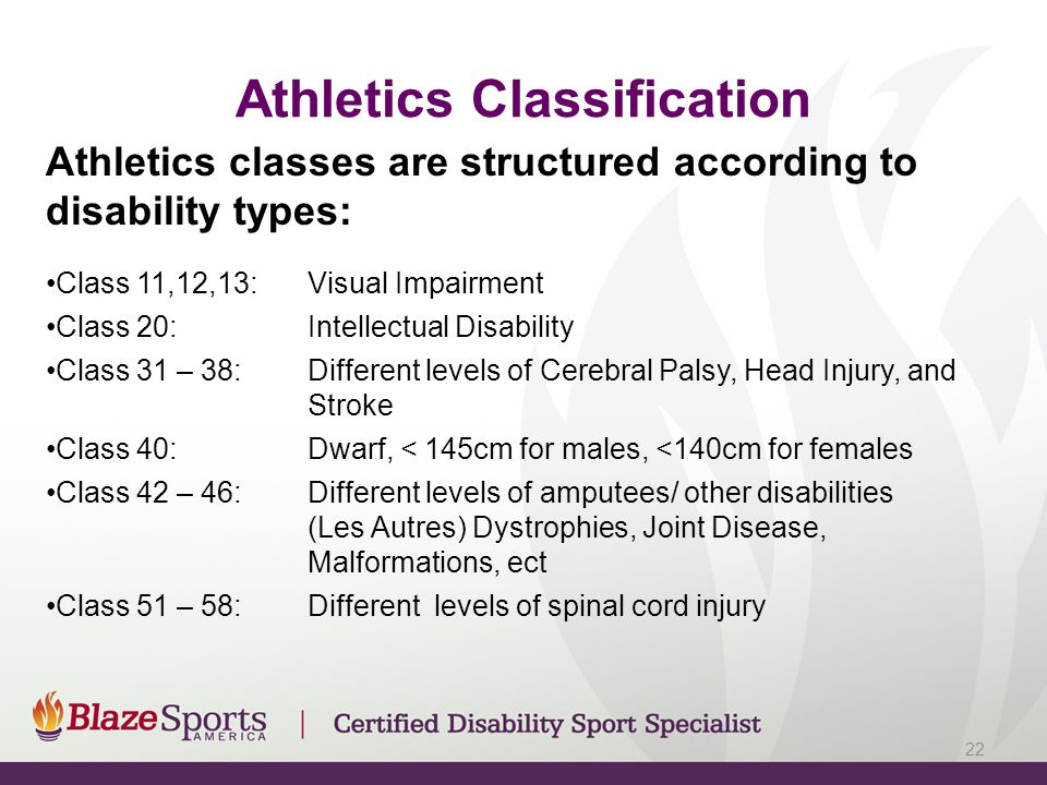 Athletics Classification