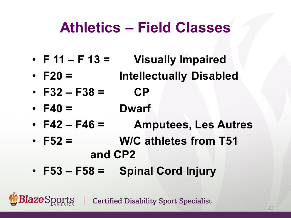 Athletics – Field Classes