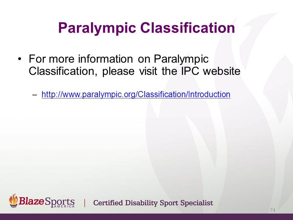 Paralympic Classification